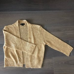 Gold sparkly cardigan holiday